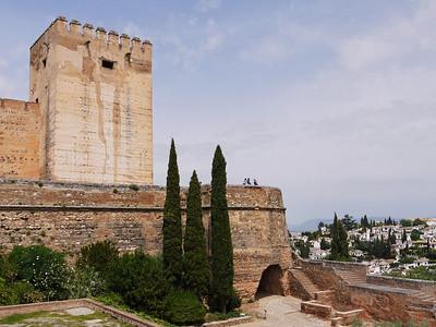 Granada - Alhambra - Alcazaba - Tour de l'Hommage