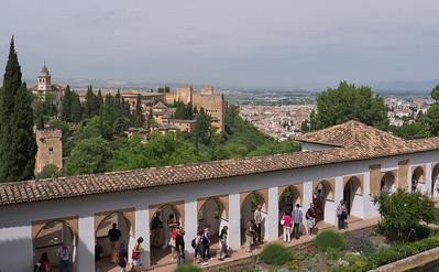 Granada - Generalife - Patio de la Acequia (Patio du Canal)