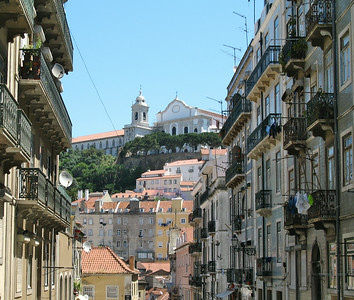 Rue Marques Ponte de Lima - Vue vers le Convento da Graça