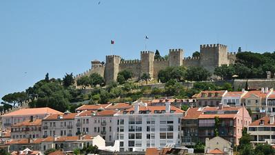 Lisbonne - Castelo de Sao Jorge, depuis la passerelle de l'ascenseur Santa Justa