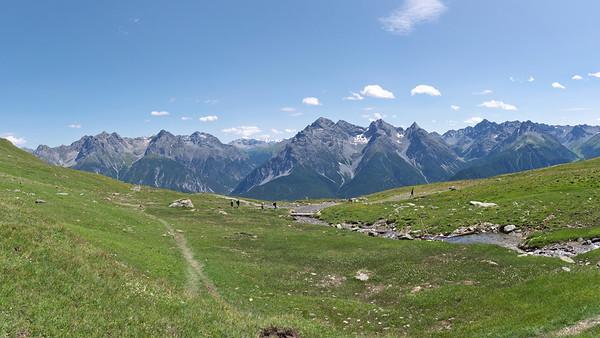 Retour de Piz Clunas à Ftan - Engadine - Suisse