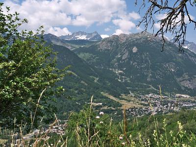 Depuis le haut de Villard Laté, vue vers Villeneuve