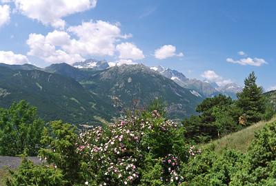 Depuis Villard Laté - Les Tronchets, vue vers les Ecrins au Sud-Ouest
