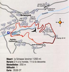 """""""Briançonnais - Les plus belles randonnées"""" - Editions Glénat - N° 8, Le fort des Têtes"""