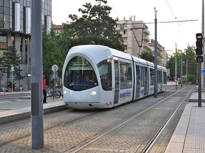 Tram T1, boulevard Vivier Merle, Lyon
