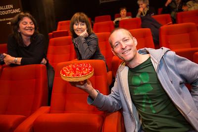 vrijwilliger van de maand Taco, in bioscoop Rialto, Amsterdam stadsdeel zuid, foto: Katrien Mulder