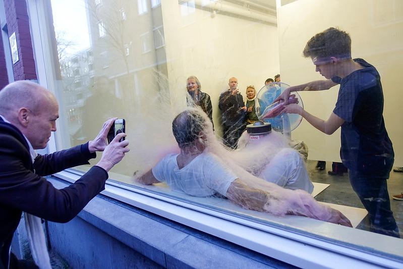 Nederland, Rotterdam, 7 januari 2018, opening in galerie Frank Taal, foto: Katrien Mulder