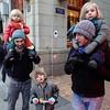 Nederland, Amsterdam, 20 januari 2018, hoek Dam en Pijlsteeg,  foto: Katrien Mulder
