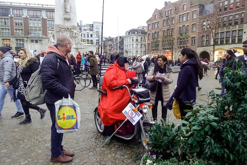 Nederland, Amsterdam, Robert Willem van Norren, pro palestina activist, 20 januari 2018, foto: Katrien Mulder