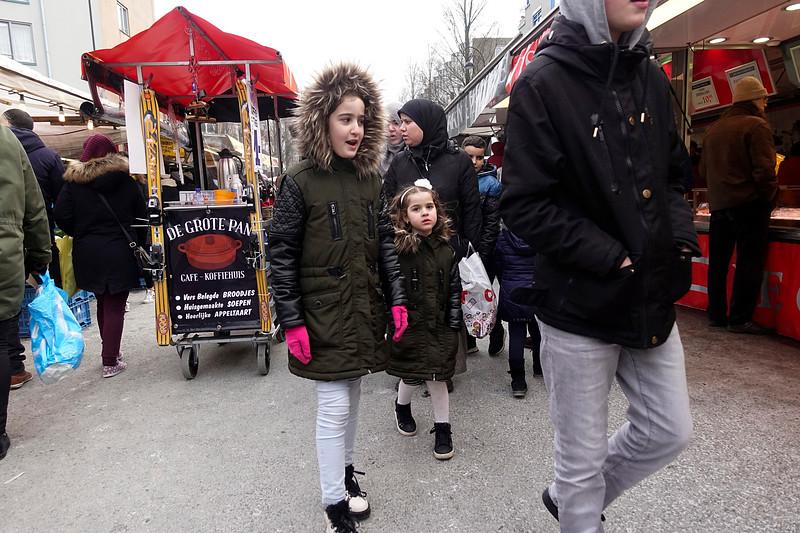 Nederland, Amsterdam, Dappermarkt, 3 maart 2018, foto: Katrien Mulder