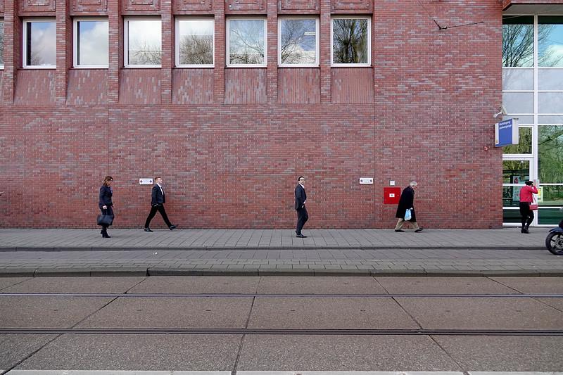 Nederland, Amsterdam; 29-03-2018, congresgangers bij het Onze Lieve Vrouwengasthuis;foto: Katrien Mulder/Hollandse Hoogte