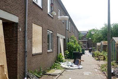 Nederland, Amsterdam, 04-06-2018, ontruiming van de door 'We are here' gekraakte panden in de Rudolf Dieselstraat, foto: Katrien Mulder/Hollandse Hoogte