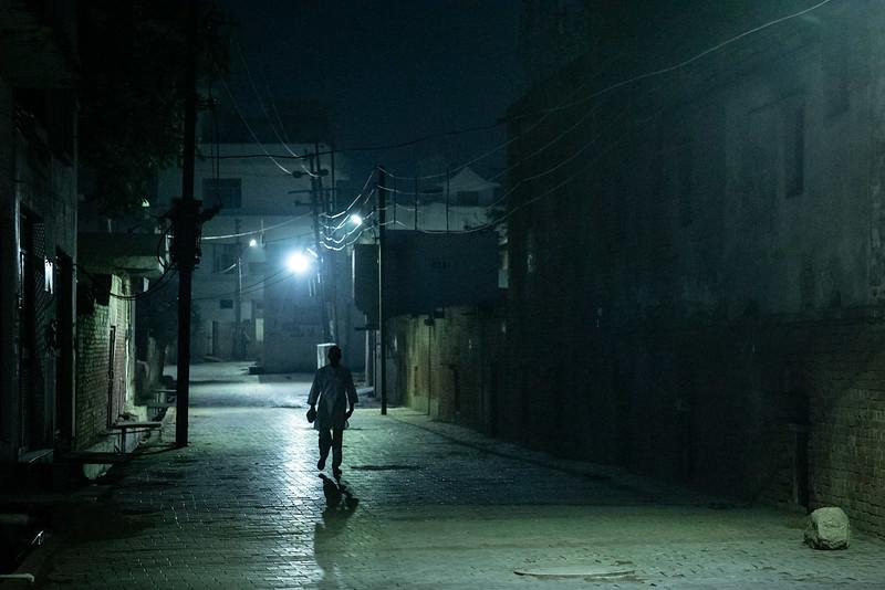 The streets of Vrindavan, before dawn. Near the Sukhdha Bhakti Ashram.