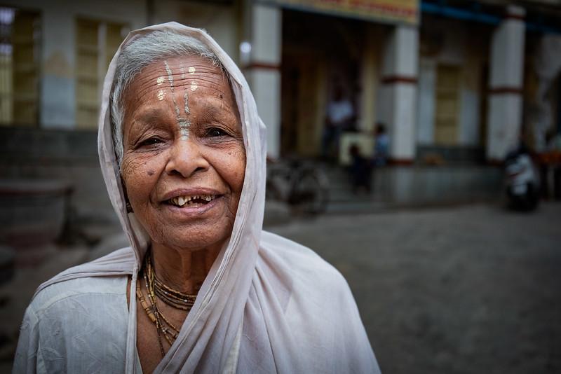 One of the many widows in Vrindavan. Just outside the Shri Bhagwan Bhajan Ashram.