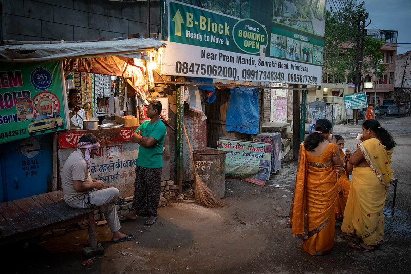 Early morning, 6am. Having a chai at a tea stall.