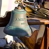 The bell on the Amistad. The Baltimore Schooner is 81 feet long with a crew of five.