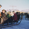 Dogsled with passengers, Egegik, Alaska