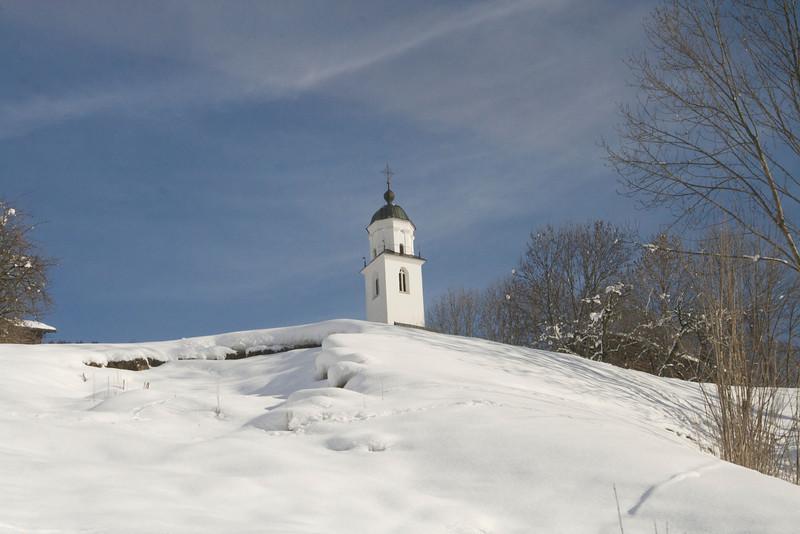 Village church<br /> Saas, Switzerland