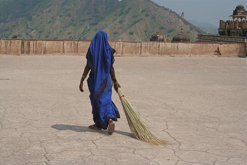 sweeping at Emerald Palace