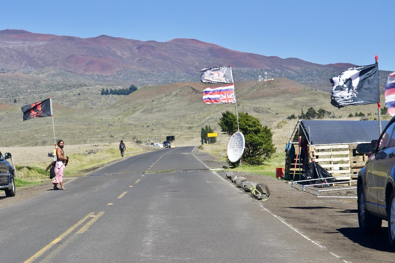Native Hawaiians protest a 30-meter telescope on Mauna Kea, a mountain they hold sacred.