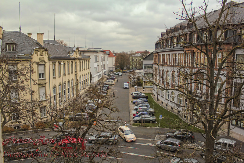 The first night we were in a hotel in Wuzburg. This was the view from our room.