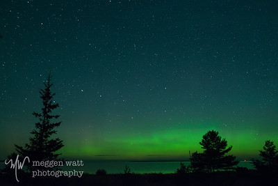 1:35 am Sept 1 2019 Northern Lights from W Harbor Hwy