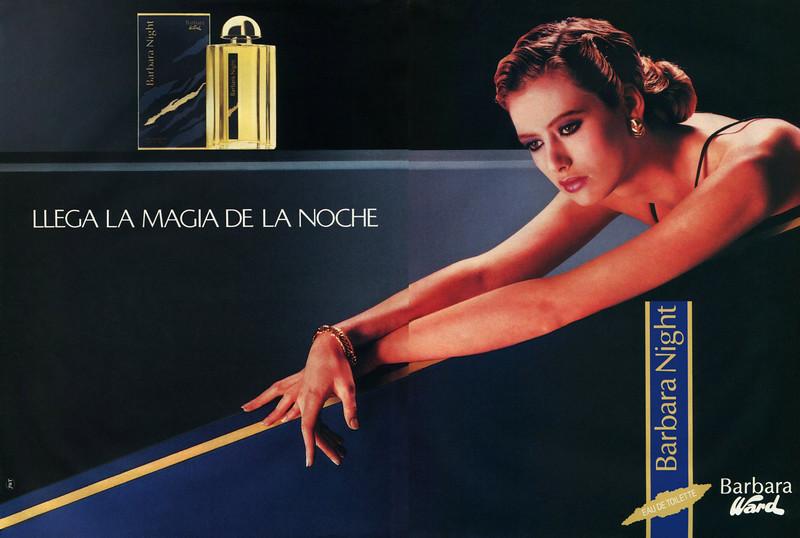 BARBARA WARD Barbara Night 1988 Spain spread 'Llega la magia de la noche'