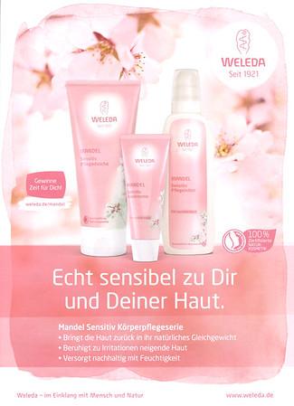 WELEDA Mandel 2016 Germany 'Echt sensibel zu Dir und Deiner Haut'