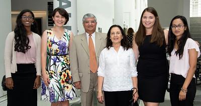 Sara Hough; Maria Geba; Dr. Romesh; Mrs. Neelam Kohli; Alina Granndrabur;  Munya Talukder