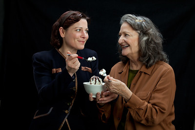 Delia MacDougall and Patricia Silver. Photo by Mark Leialoha.