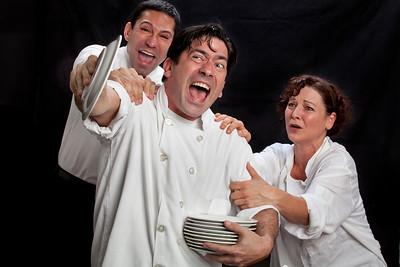 Rudy Guererro, Gendall Hernandez and Delia MacDougall. Photo by Mark Leialoha.