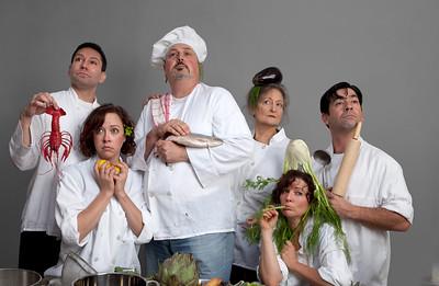 Left to right: Rudy Guerrero, Molly Benson, Soren Oliver, Patricia Silver, Delia MacDougall, Gendell Hernandez. Photo by Mark Leialoha.