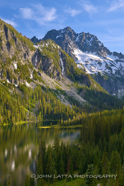 Mount Stuart Rising Above Lake Stuart