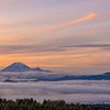 Mount Rainier and Goat Rocks Viewed From Mount Adams