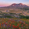 Full Moon Rising Over Mount Saint Helens