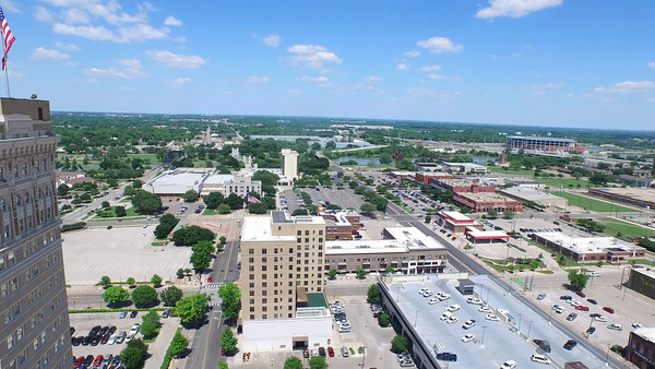 ALICO BUILDING FLY AROUND AND FLY OVER DOWNTOWN WACO