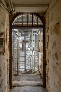 Fremantle, Australia - May 24 2018:  The historic Victorian Era Fremantle Goal constructed in 1858 is a popular tourist attraction and a reminder of the harsh punishments of the Victorian Era.