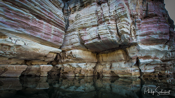 Stained Devonian Cliffs, Geikie Gorge, Fitzroy Crossing, Western Australia