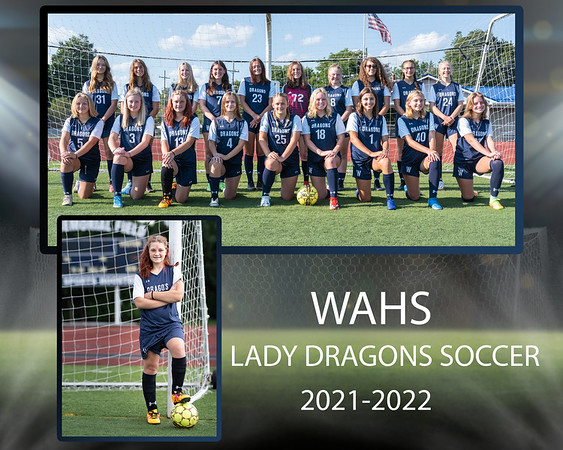 WAHS Soccer team with individual copy