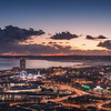 Swansea at night - By Xavier Martyn