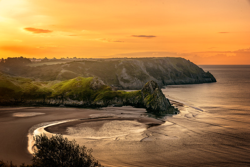 Three Cliffs Sunrise by Karl McCarthy