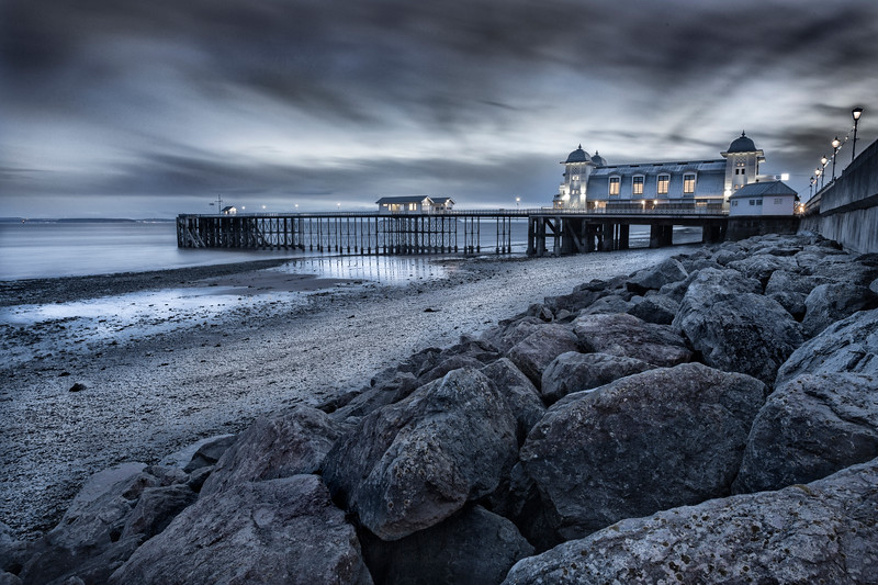 PENARTH PIER AT DUSK