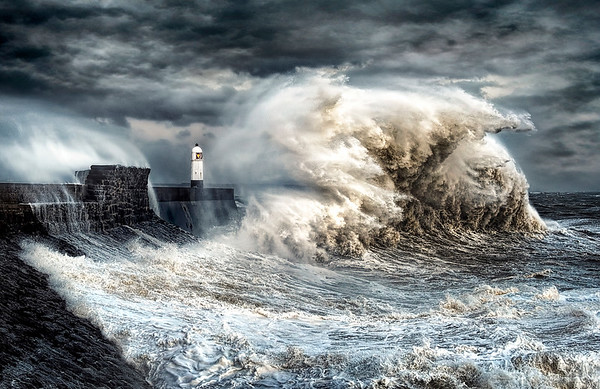 Monster Wave, Porthcawl Lighthouse - By Karl McCarthy