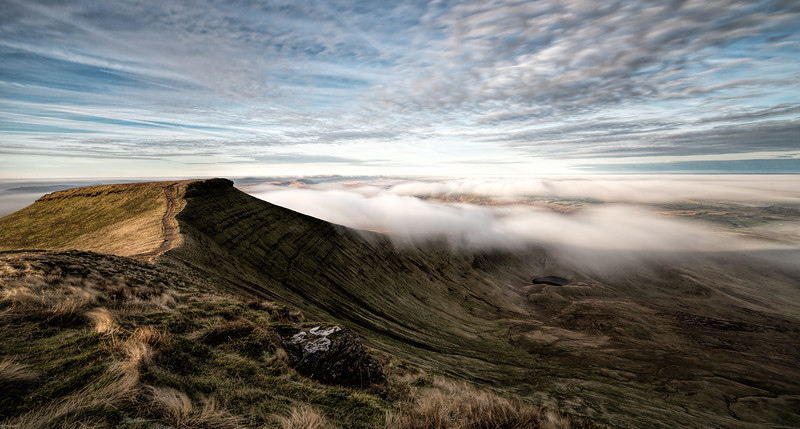 Mist Rolling Over Corn Du, Brecon Beacons