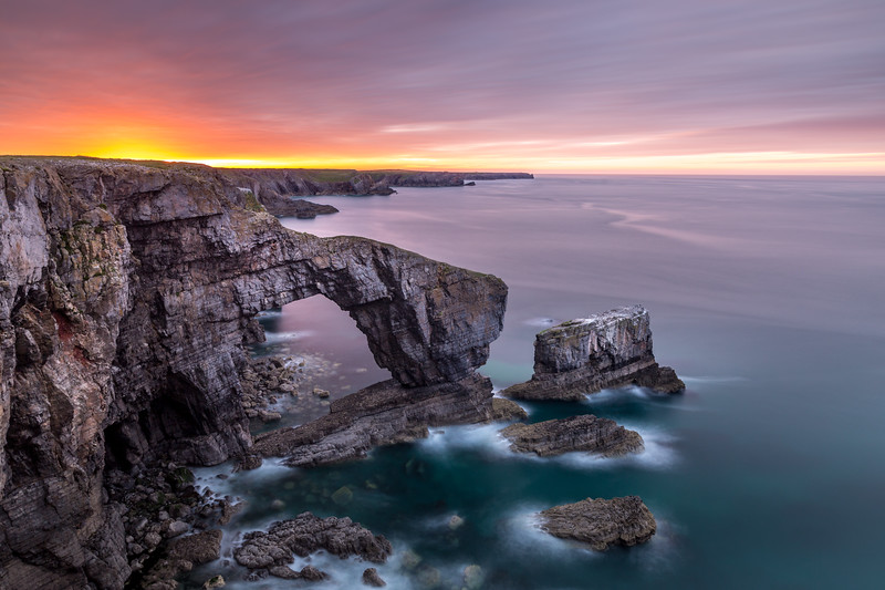 The Green Bridge Of Wales, Pembrokeshire By Filly Bonito-Brook