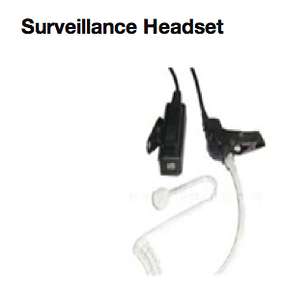 Surveillance Headset  http://www.mcmnyc.com/surveillance-headset-secret-service-earpiece/