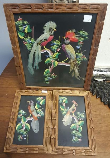 Mexican bird feather art