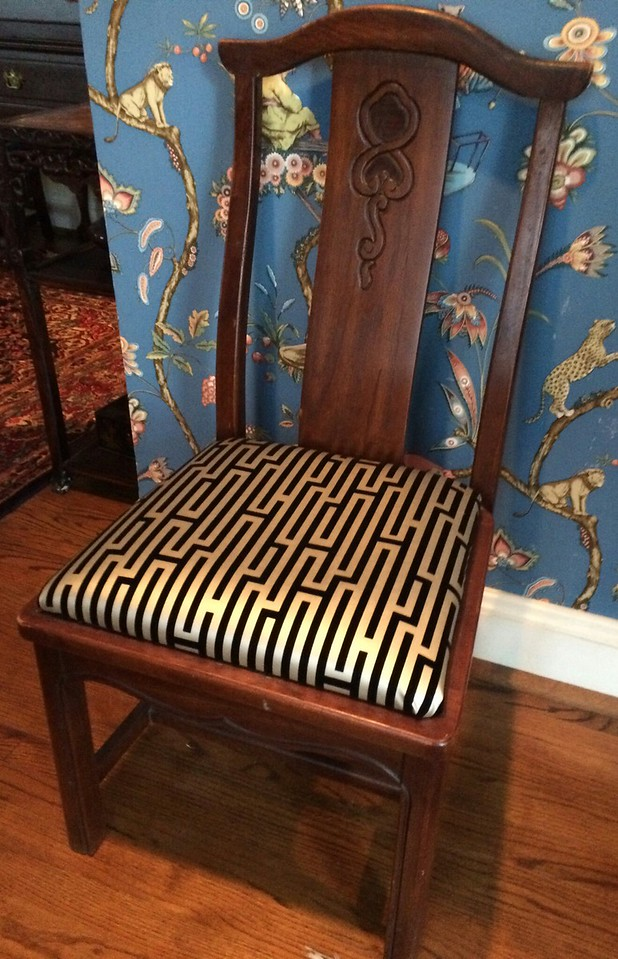 Pair of Asian side chairs