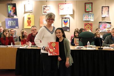 Natalie Osborne with Dr. Nancy Story Somers.