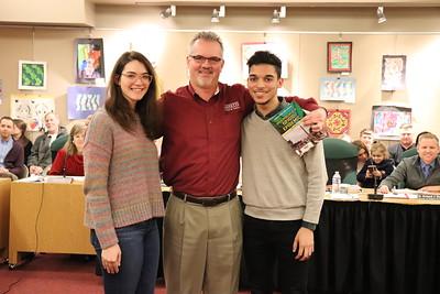 Anna Vaughn Stewart and Kyle Andrews with Marc Schefsky
